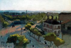 """""""Puerta de Saint Cloud"""", óleo de Albert Marquet (1875-1947, France)"""
