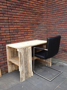 Bureau pallethout Desk pallet wood DIY