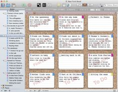 Scrivener's Corkboard feature - you can stamp scenes with labels, such as First Draft, To Do, or Revised Draft so you know how advanced each scene is.