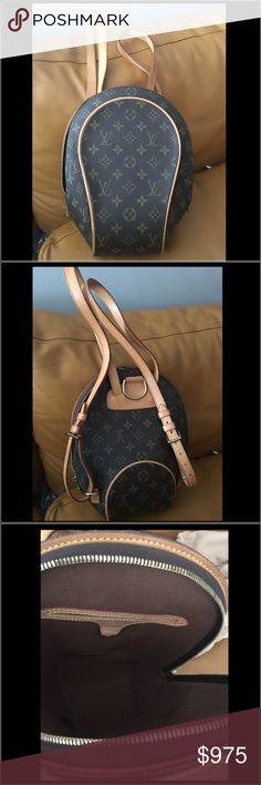 "Louis Vuitton Mabillon Backpack Designer: Louis Vuitton Monogram Mabillon Handbag. 100% Authentic.  Gently used in excellent condition.  Minor spot inside.  Coated Canvas.  Dust bag is included. Dimensions: 9"" x 11.5"" x 4.5"" Louis Vuitton Bags Backpacks"