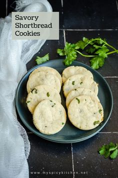 Khara biscuits are spicy, flavorful shortbread cookies perfect for a snack. Green chilies and fresh cilantro (kotmir) gives these cookies and nice flavor. This is a copycat recipe of Iyengar bakery khara biscuits. Tea Time Snacks, Afternoon Snacks, Shortbread Cookies, Yummy Cookies, Khaman Dhokla, Savoury Biscuits, Coriander Cilantro, Delicious Cookie Recipes, Evening Snacks