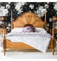 Spire French Finest Ash & Walnut Wood Bed Crafted from mindy ash solid wood, this bedroom collection features beautiful marquetry of blonde European walnut and American walnut inlays that have been cut-out and laid by hand, paying exquisite attention to detail. With its hand-cast shoes and handles this updated classic…