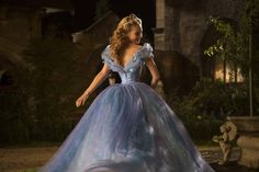 A look at the backside of Cinderella's stunning blue ball gown.