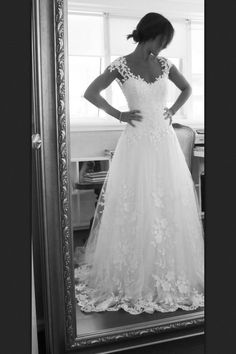 Wedding dress. Beautiful with my cowboy boots