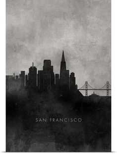 san francisco skyline silhouette line - Google Search