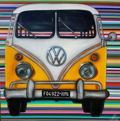 Bulli Volkswagen T1  on canvas 150x150 by monicasali.it
