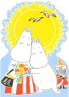 A Moomin postcard, from Finland! Moomin Wallpaper, Bear Wallpaper, Iphone Wallpaper, Moomin Valley, We Bare Bears Wallpapers, Tove Jansson, Troll, Illustration, Fairy Tales