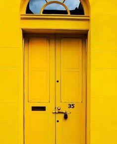 yellow, door, and aesthetic kép