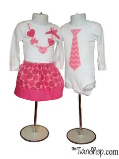 Valentine Necklace and Tie Dress Set for Twins Twin Outfits, Matching Outfits, Kids Outfits, Spring Fashion, Kids Fashion, Womens Fashion, Fashion Trends, Cheap Kids Clothes, Kids Clothing