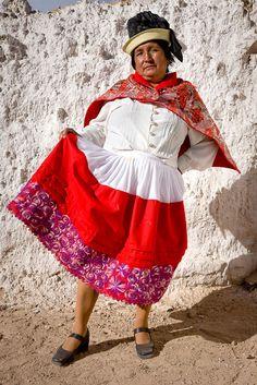 Traditional dress (and drunk). Familia Aguilarb. Fiesta de Satiago, Sicaya, Peru.