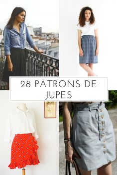 Coudre une jupe / patron pour coudre une jupe / sewing patterns skirts