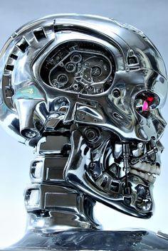 Terminator Skull modeled by SUNY BUNY. (via 터미네이터 1:1헤드: 네이버 블로그)