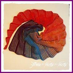 Ein neuer Drachenschwanz - Schal - Anleitung kostenlos dragontail - scarf crochet pattern free