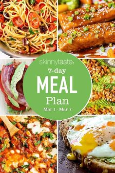 A free 7-day, flexible weight loss meal plan including breakfast, lunch and dinner and a shopping list. All recipes include calories and updated WW Smart Points. 7-Day Healthy Meal Plan So keeping in the theme of Meatless Mondays and Lenten Fridays–here are some vegetarian and fish recipes to check out-and don't forget to add dessert! […] The post 7 Day Healthy Meal Plan (March 1-7) appeared first on Skinnytaste.