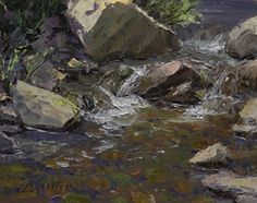 Cool Water by Jean LeGassick Oil ~ 8 x 10