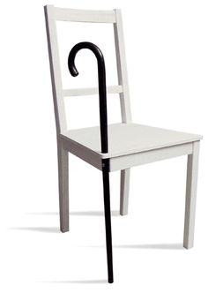 Si ta chaise préférée vieillit mal, donne-lui une canne ! / IKEA Hackers: anatomic factory's nata vintage chair.