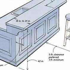 Breakfast Bar Dimensions Design Google Search Remodel