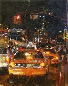 "REDLIGHT, 20 X 16"", BY MARK LAGUE. FROM WATERHOUSEGALLERY.COM"