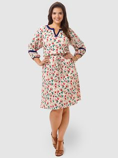 Vintage Floral Bohemian Dress by Spruce & Sage,Available in sizes 10/12,14/16,18/20,22/24,26/28 and 30/32