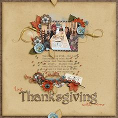 Thanksgiving Scrapbooking Layout
