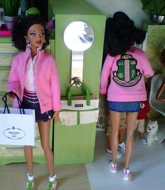 that a natural hair barbie with AKA gear on? I have Chapter sorors that would love this!Celebration 2 by studioseven Aka Sorority, Alpha Kappa Alpha Sorority, Sorority Life, Sorority And Fraternity, Sorority Fashion, Pretty Girl Swag, Pretty In Pink, Pretty Girls, Alpha Kappa Alpha Paraphernalia