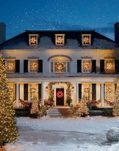 Beautiful exterior decorations.