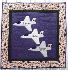 Cute idea for baby boy quilt