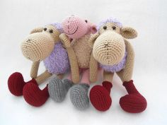 sheep crochet pattern by suwannascraftsroom on Etsy https://www.etsy.com/listing/386299708/sheep-crochet-pattern