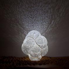 I love these designs! For more: www.n-e-r-v-o-u-s.com (Nervous System   Hyphae   Orbicular Lamp)
