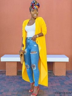 fashion - Come thru Mustard Jacket : 90 degree weather smh The funny thing is that it was actually cooler when I wore this outfit, so I didn't mind at all plus I was matching the sun and my highlighter hahah Okay let's … - fashion Black Girl Fashion, Look Fashion, Autumn Fashion, Womens Fashion, Fashion Fashion, Fashion Tips, Feminine Fashion, Jeans Fashion, Fashion Stores