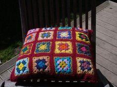 Granny Square Cushion Cover crochet by AlexandraMackenzieNZ, $64.00