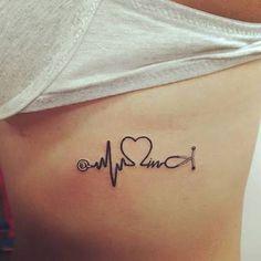 ekg tattoo placement & ekg tattoo ` ekg tattoo ideas ` ekg tattoo memorial ` ekg tattoo nurse ` ekg tattoo with name ` ekg tattoo placement ` ekg tattoo men ` ekg tattoo vorlage Modern Tattoo Designs, Modern Tattoos, Trendy Tattoos, Small Tattoos, Tattoos For Women, Caduceus Tattoo, Ekg Tattoo, Piercing Tattoo, Tatoo Art