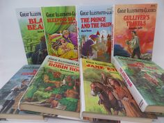 Great Illustrated Classics- lot of 8 books by CellarDeals on Etsy