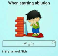 Starting ablution