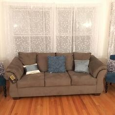 Darcy Sofa | Ashley Furniture HomeStore American Sofa, Foam Cushions, Pillows, Cool Couches, Sofa And Loveseat Set, Comfortable Sofa, Best Sofa, Cushion Covers, Contemporary Style