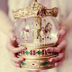 Carousel Snow Globe