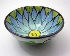 Small Serving Bowl Clay Majolica Pottery by ClayLickCreekPottery, $25.00
