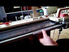 Второй способ вязания ластика/ резинки/ на любой однофонтурной машине. - YouTube