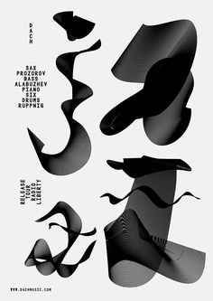 Slawek Michalt's graphic design is inspired by the sounds and ethos of jazz Graphic Design Posters, Graphic Design Typography, Technology Posters, Jazz Poster, Jazz Art, Typographic Poster, Type Design, Art Direction, Cover Design