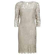 Buy Gina Bacconi Scallop Flower Lace Dress, Beige Online at johnlewis.com