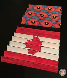 A truly unique remembrance day art project for students and teachers. This is a unique patriotic art project for kids. Try my patriotic agamograph and see how easy patriotic art projects for kids can be. Remembrance Day Activities, Remembrance Day Poppy, Poppy Craft For Kids, Art For Kids, School Art Projects, Projects For Kids, Kids Crafts, Project Ideas, School Ideas