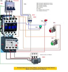 Three Phase Contactor Wiring Diagram Electrical Info PICS