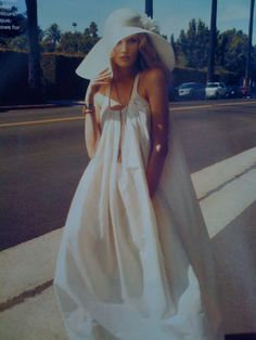White maxi dress.