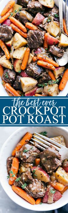 The best ever CROCKPOT POT ROAST loaded with delicious flavors that everyone wil. - Recipes to cook - Crock Pot Slow Cooker, Crock Pot Cooking, Slow Cooker Recipes, Crockpot Recipes, Cooking Recipes, Healthy Recipes, Easy Recipes, Crowd Recipes, Cooking Beef