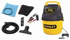 Stanley - 1-Gal. Wet/Dry Vacuum - Black - Front_Standard