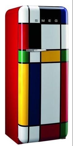 SMEG Collection Fab28, hommage à Mondrian