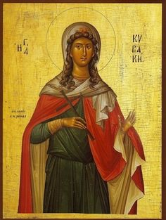 Orthodox Icon of Great Virgin Martyr Kyriake Byzantine Icons, Byzantine Art, Religion Catolica, Orthodox Christianity, Heaven Sent, Art Icon, Catholic Saints, Orthodox Icons, Sacred Art