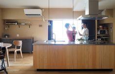 シンプルなアイランドキッチン参考