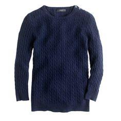 Collection cashmere mini-cable sweater,   Heather emerald or neon azalea preferred but I'll take lemon pulp.