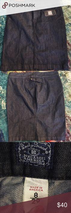✨New LUCKY BRAND Demin Pencil Skirt 29 / 8 Dark✨ ✨New LUCKY BRAND Demin Pencil Skirt 29 / 8 Dark✨ Brand new - never worn.  98% Cotton - 2% Spandex.  Made in USA. Lucky Brand Skirts Pencil